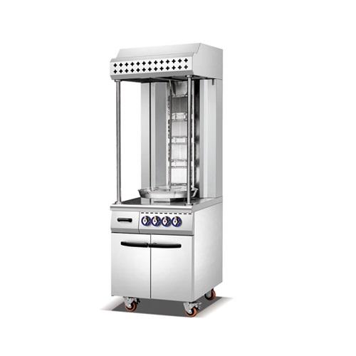 Single Row Electric Shawarma Machine with Cabinet-K1380-1